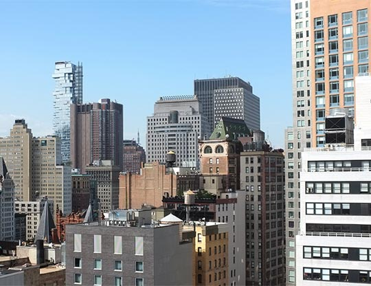 View of NYC from the Fundera office